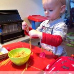 Invitation to Play: Playdough and Pasta