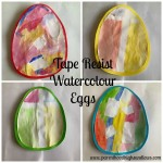 Tape Resist Watercolour Eggs