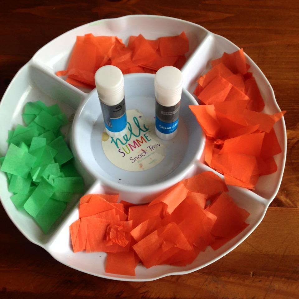 Tissue Paper Pumpkins | www.coffeecakekids.com