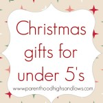 Christmas gifts for under 5's