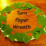 Torn Paper Wreath