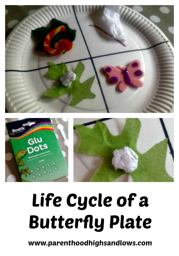 Butterfly Life Cycle Plate | www.coffeecakekids.com