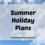 Summer Holiday Plans