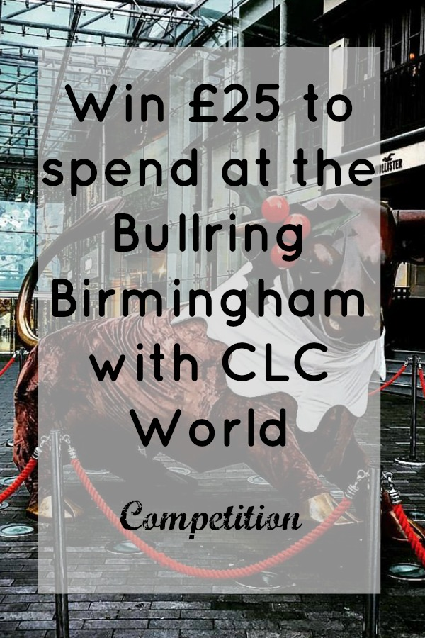 Win £25 to spend at the Bullring Birmingham with CLC World Competition | www.coffeecakekids.com