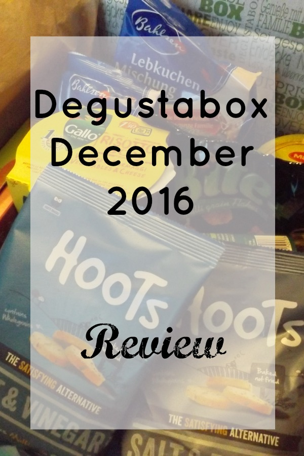 Degustabox December 2016 Review