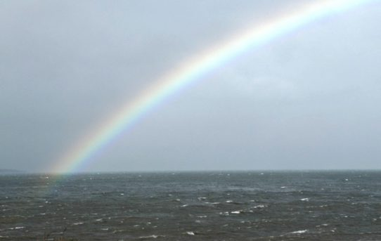 Rainbows over the sea