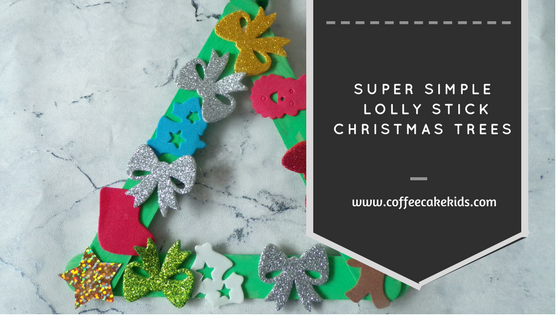 Super Simple Lolly Stick Christmas Trees