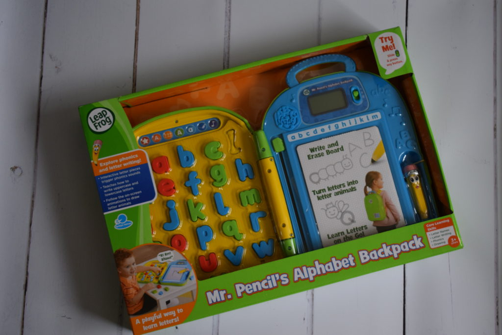 LeapFrog Mr Pencil's Alphabet Backpack
