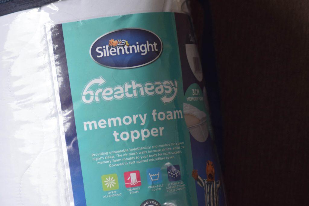 Silentnight Breatheasy Memory Foam Topper