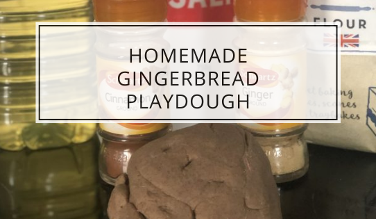 homemade gingerbread playdough